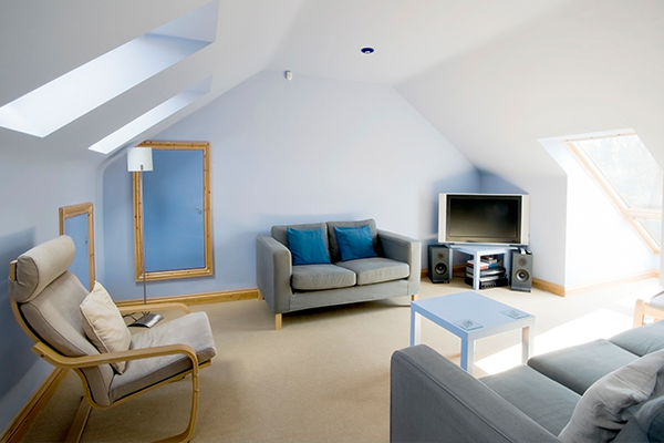 An Image of a newly converted loft